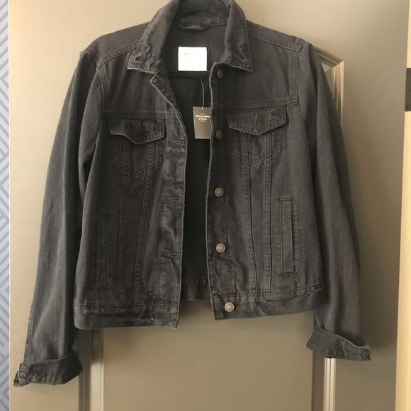NWT! A&F Black Denim Jacket
